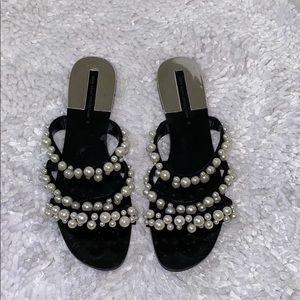 Zara pearl sandal